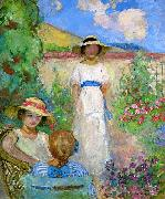 Lebasque, Henri Three Girls in a Garden oil painting artist